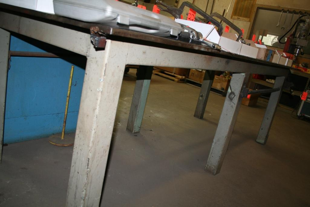 "Steel Welding Table 4'x10' with 3/4"" Top"
