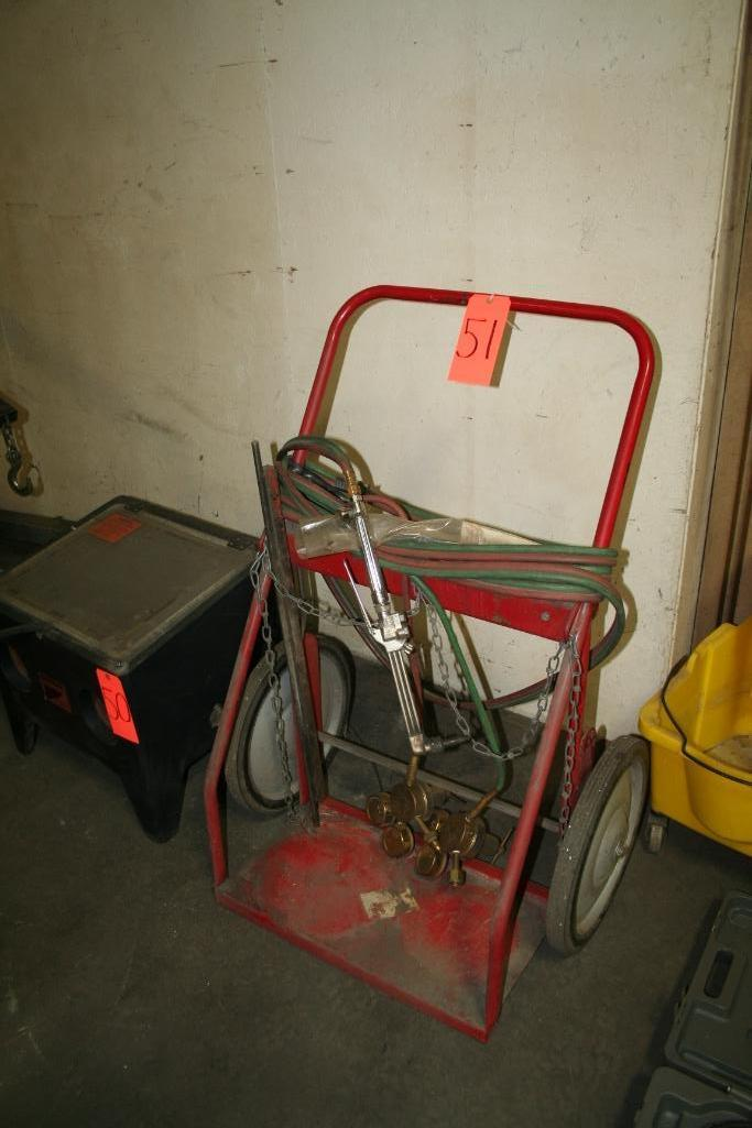 Tank Cart with Gauges, Hose and Torch - Image 2 of 2