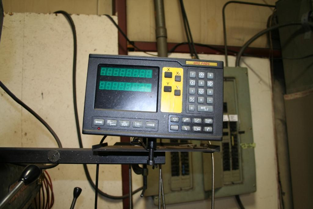 """Lagun Vertical Mill Power Cross Feed Model FTV-2, DRO, 9""""x48"""" Table, Vari-Speed, 220/440 - Image 6 of 6"""