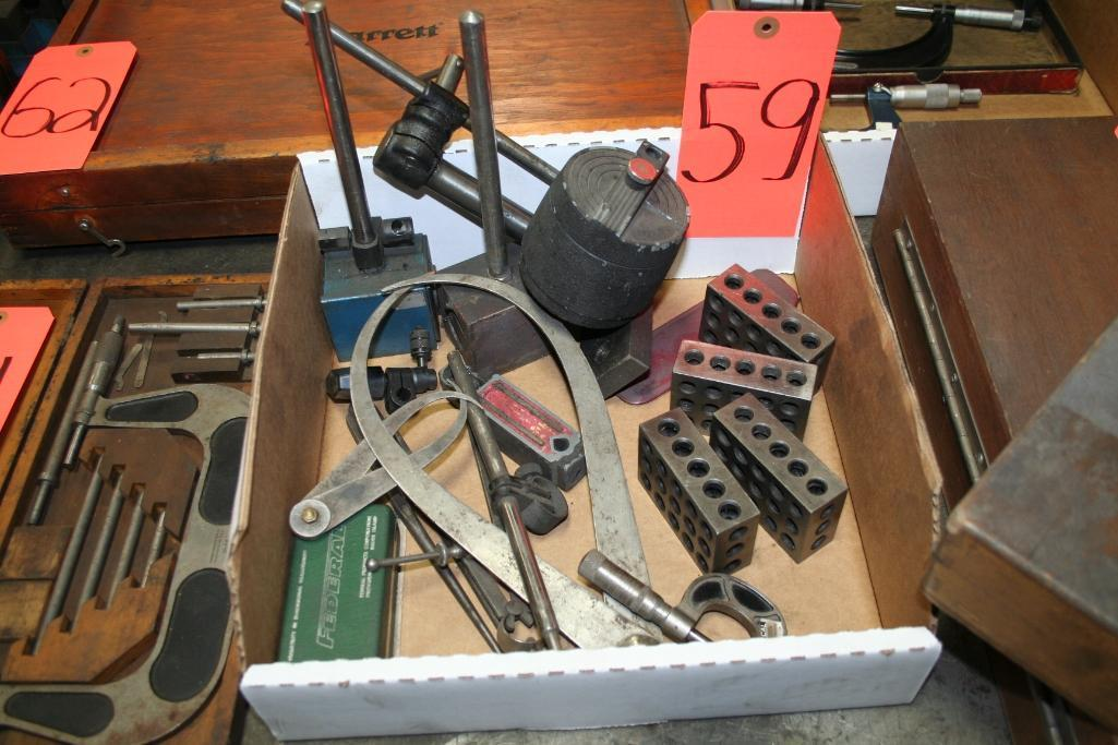Box of Dial Stands, Callipers, Set Up Blocks, Parallel - Image 3 of 3