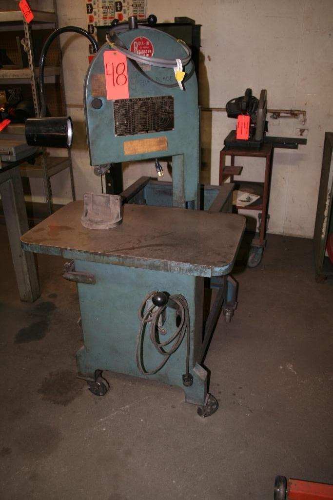 "Roll-In All Purpose Band Saw, 8"" Throat, 30""x18"" Table"