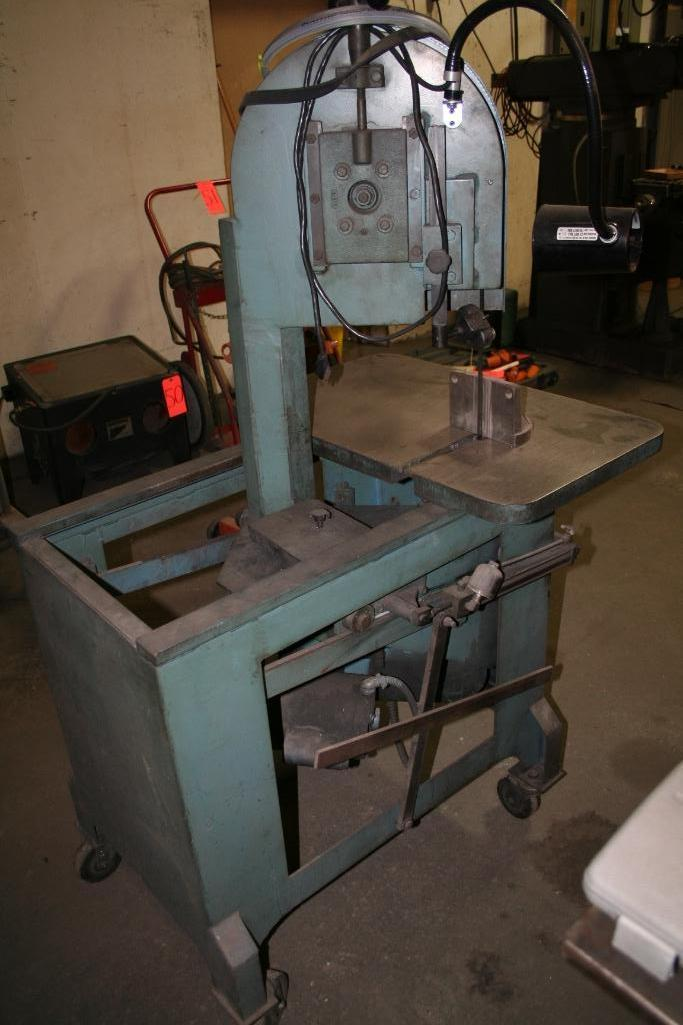 "Lot 48 - Roll-In All Purpose Band Saw, 8"" Throat, 30""x18"" Table"