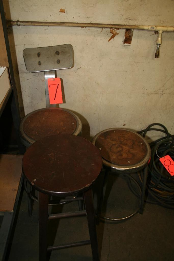 Lot 7 - (3) Shop Stools