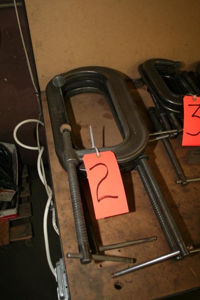 "Lot 2 - (4) 12"" C-Clamps"