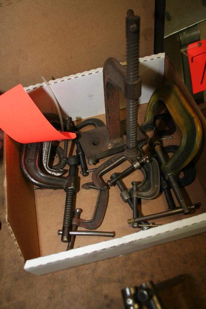 Box of Assorted C-Clamps Appx. (12) - Image 2 of 2