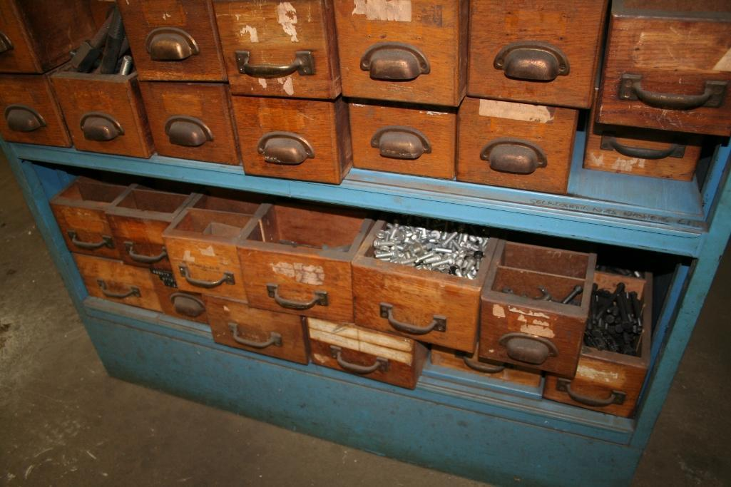 Blue Cabinet with Contents Nuts, Bolts, Assorted Fastners, Etc. - Image 2 of 4