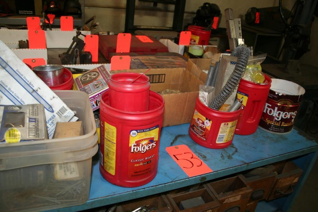 Blue Cabinet with Contents Nuts, Bolts, Assorted Fastners, Etc. - Image 3 of 4
