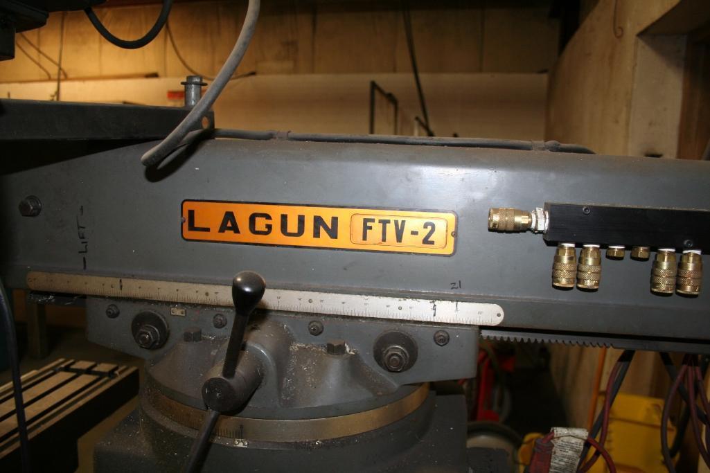 """Lagun Vertical Mill Power Cross Feed Model FTV-2, DRO, 9""""x48"""" Table, Vari-Speed, 220/440 - Image 3 of 6"""