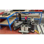 Quantity of laser tracker related stands, extension pipes, bases & cables as pictured