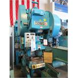 "60 TON X 5"" MINSTER OBI DOUBLE GEARED HEAD PUNCH PRESS, MODEL #6, DUAL PALM CONTROL W/ E-STOP,"