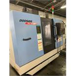 2007 DOOSAN MV-3016LD CNC VERTICAL MACHINING CENTER WITH THROUGH SPINDLE COOLANT & CHIP CONVEYOR, X: