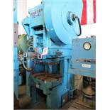 "75 TON X 5"" MINSTER OBS PUNCH PRESS, MODEL 70-4-1/2, BOLSTER PLATE W/ BALL TRANSFERS, DUAL PALM"