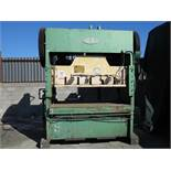"150 TON X 10"" CHICAGO STRAIGHT SIDE DOUBLE CRANK PUNCH PRESS, MODEL , AIR CLUTCH & BRAKE, DUAL"