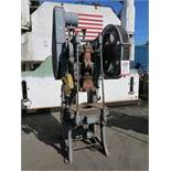 "32 TON X 4"" BLISS OBI PUNCH PRESS, ROCKFORD SAFETY CONTROLS, FOOT PEDAL, AIR TRIP MECHANICAL"