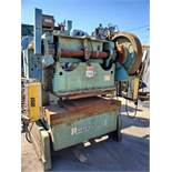"60 TON X 4"" ROUSSELLE GAP FRAME OBI PRESS (SINGLE CRANK), MODEL 6B-60, AIR CLUTCH & BRAKE, ISB LIGHT"