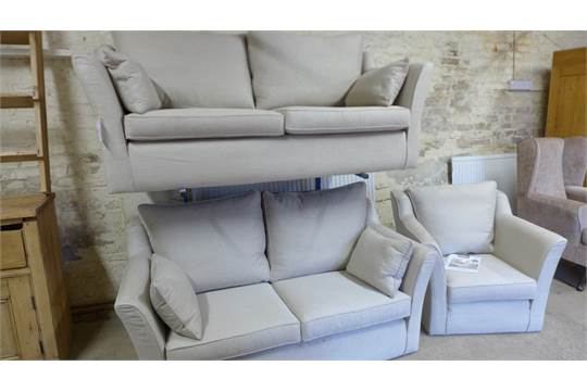 Two Modern Multiyork Sofas And A Single Chair The Ludlow Lydney Range With Guardsman Five