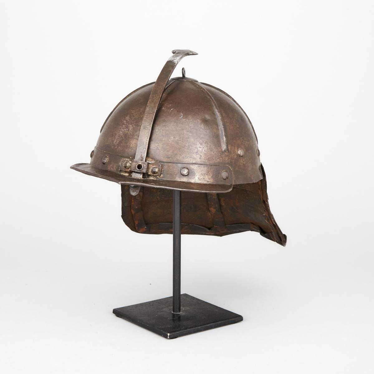 North European Lobstertail Helmet, early 17th century, height 9.5 in — 24.1 cm - Image 2 of 2