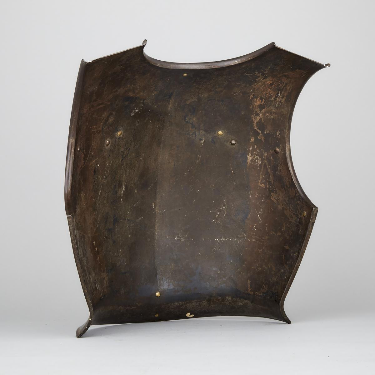 French Cuirassier's Breastplate, early 19th century, height 16 in — 40.6 cm - Image 2 of 2