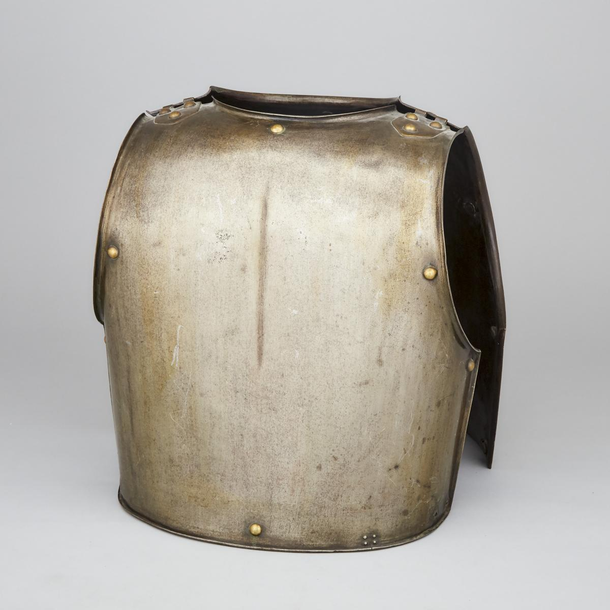 French Carabinier-a-Cheval Officer's Cuirass, Klingenthal Armory, 1832, height 17.5 in — 44.5 cm (2 - Image 2 of 5
