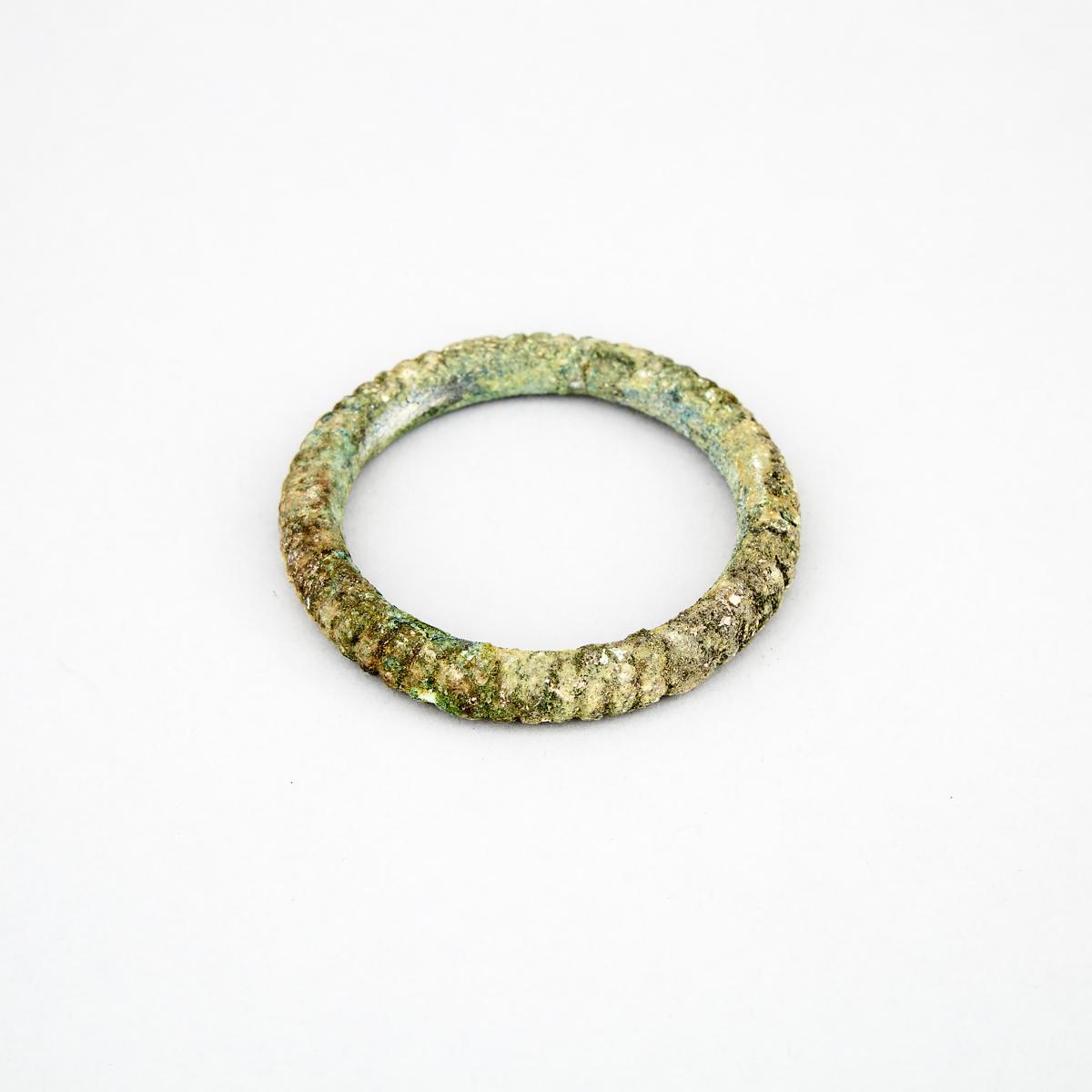 Greek or Roman Bronze Bracelet, diameter 2.8 in — 7.2 cm