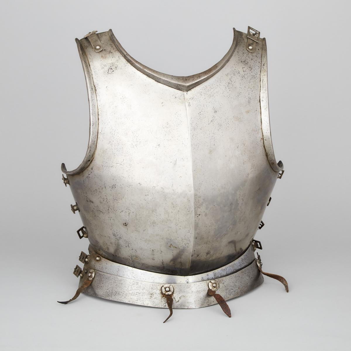 North Italian Infantry Breastplate, early 17th century, height 17.5 in — 44.5 cm