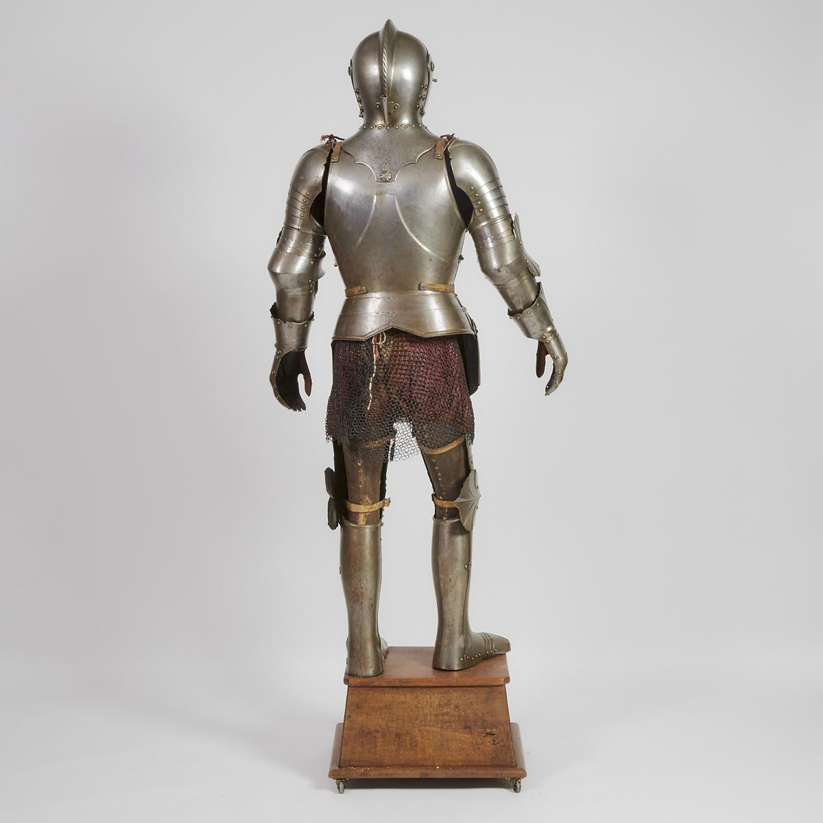 16th Century German Gothic Style Full Field Armour, Vienna, mid 19th century, armour height 68 in — - Image 2 of 2