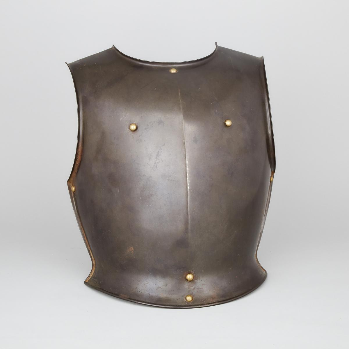 French Cuirassier's Breastplate, early 19th century, height 16 in — 40.6 cm