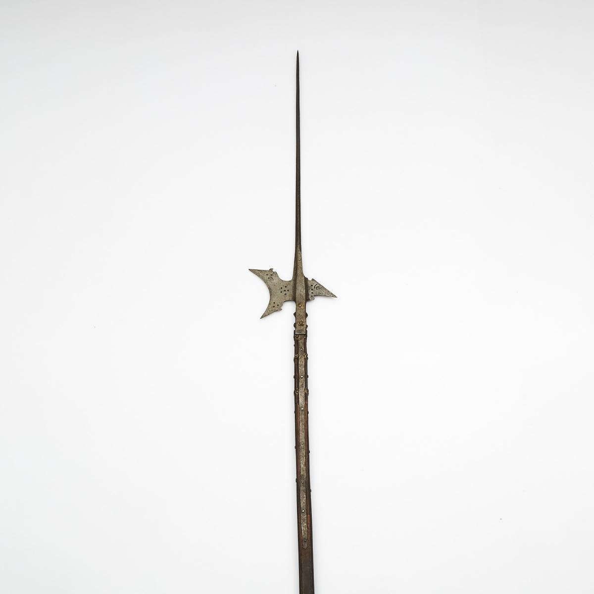 German or Swiss Halberd, late 16th century, length 73.5 in — 186.7 cm