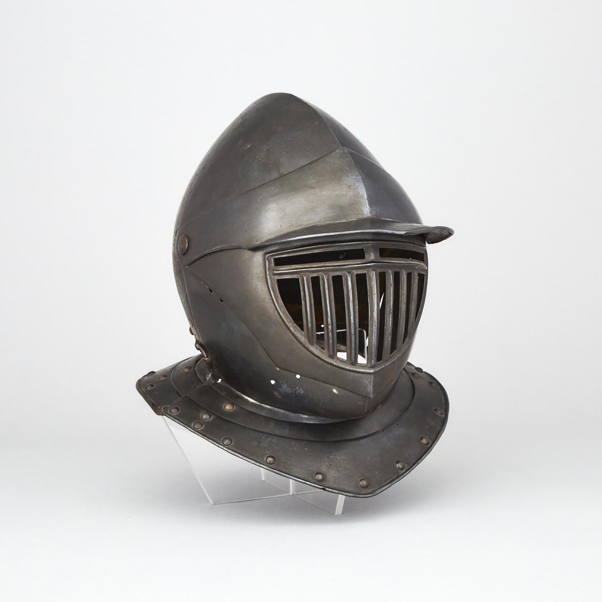 German Cuirassier's Composite Closed Burgonet, c.1620 and later, height 13 in — 33 cm