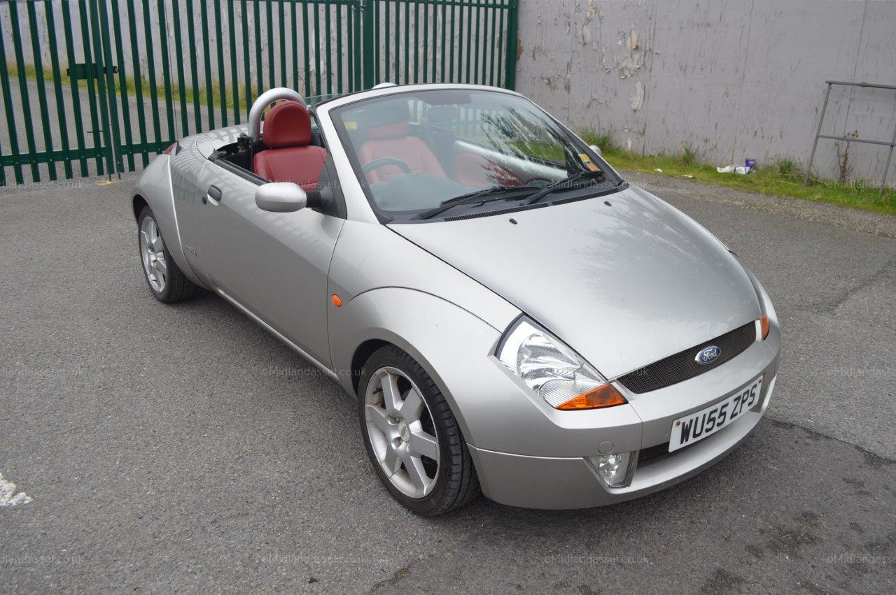 2005 55 reg ford street ka 2 door convertible red leather interior no vat starts goes and. Black Bedroom Furniture Sets. Home Design Ideas