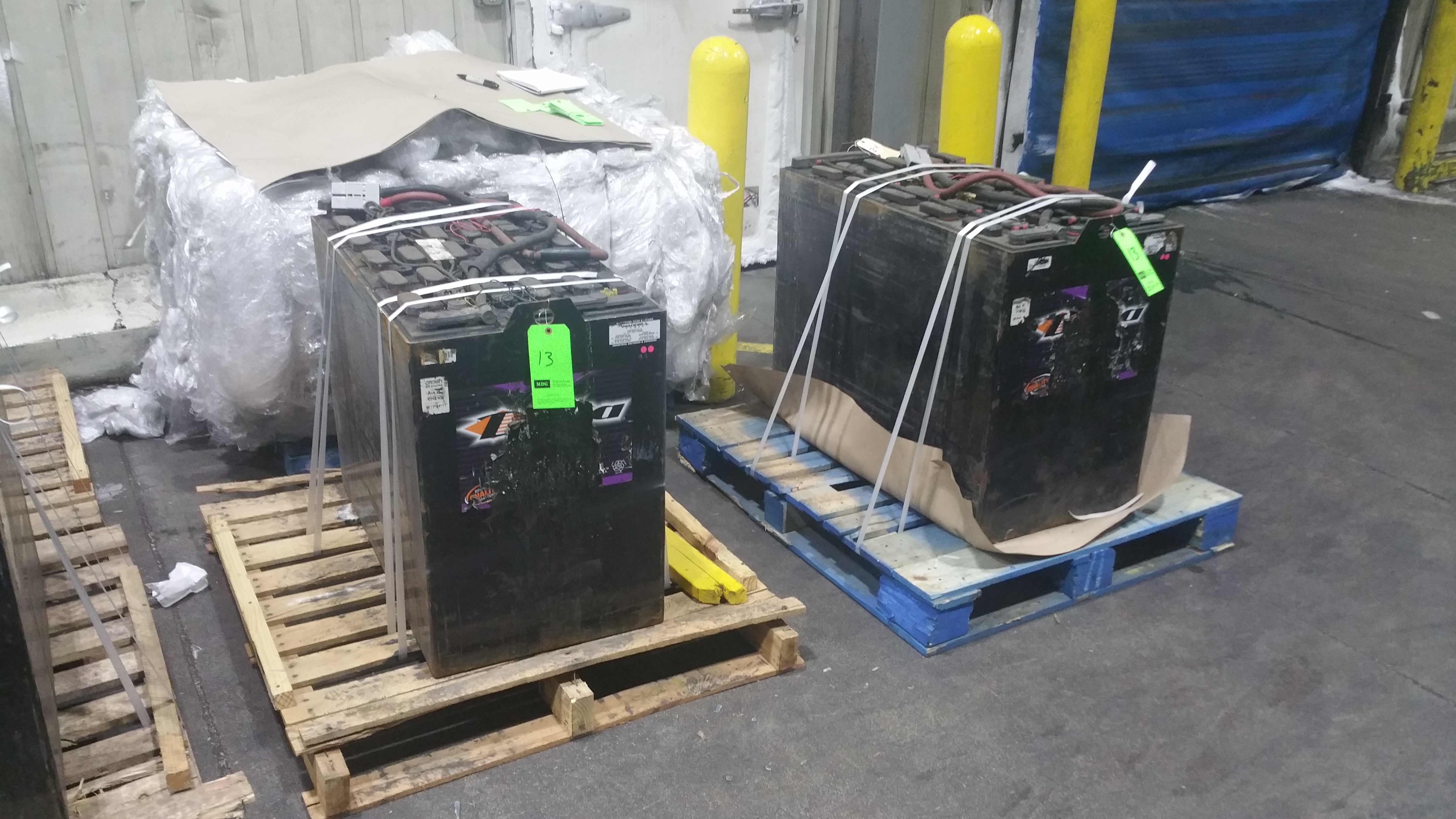 """Lot 38 - (2) Deka Fast Charge 36V Batteries, New in 2014 Used Less Than 6 Months, 20 1/16"""" x 38 ¼"""" x"""