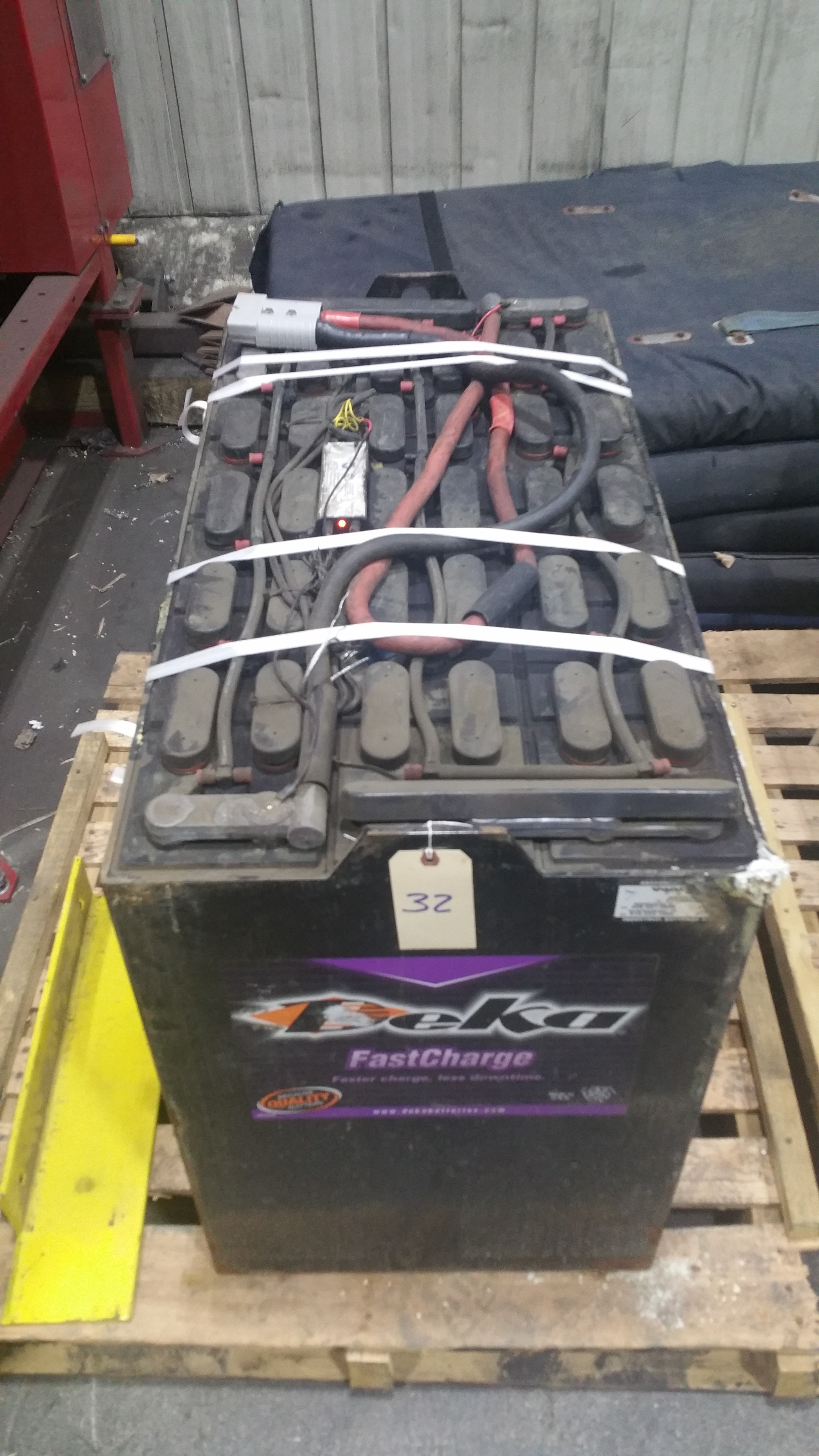 """Lot 32 - (2) Deka Fast Charge 36V Batteries New in 2014, Used Less Than 6 Months, 20 1/16"""" x 38 ¼"""" x 30 7/1"""