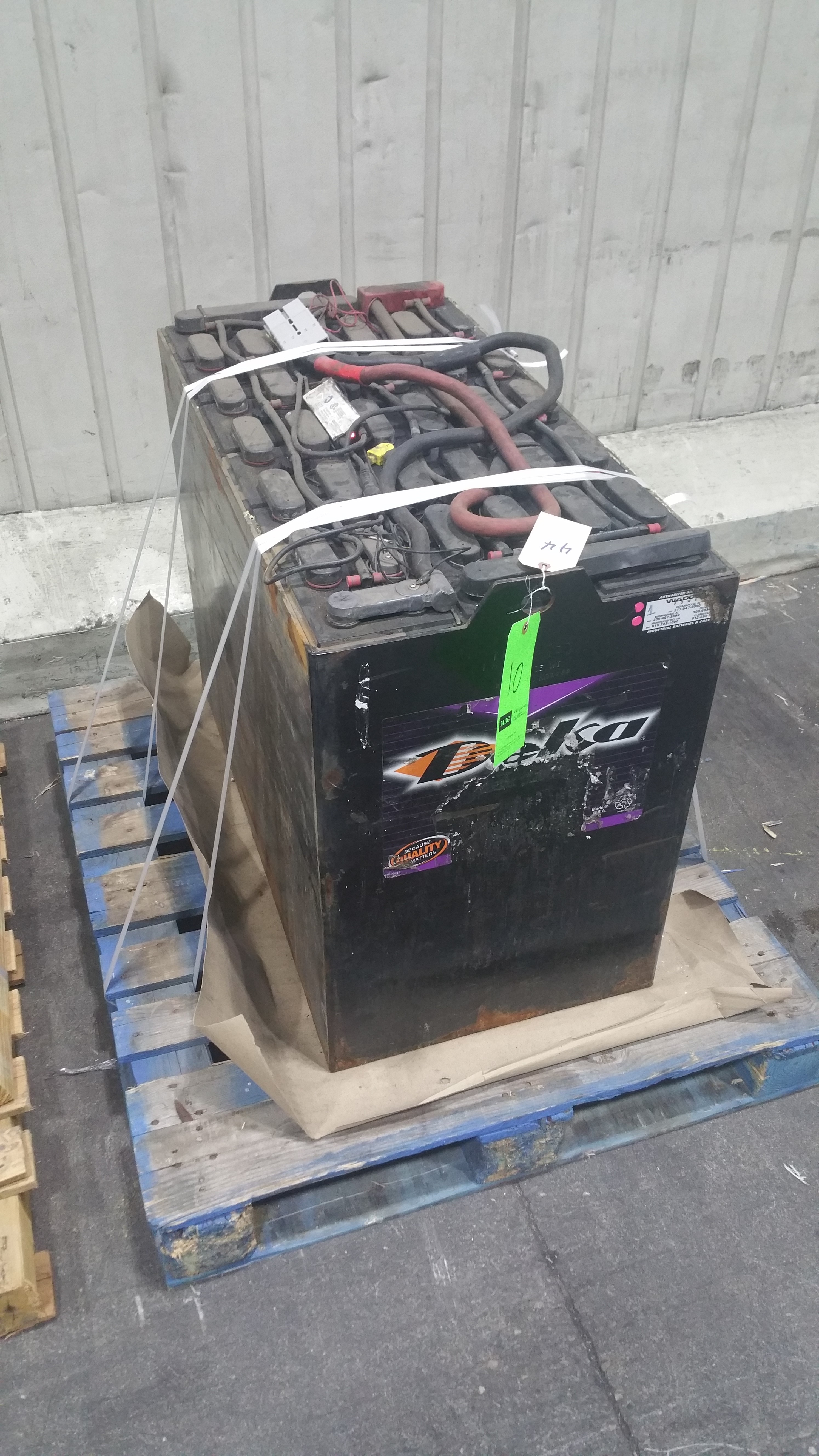"Lot 35 - (2) Deka Fast Charge 36V Batteries, New in 2014 Used Less Than 6 Months, 20 1/16"" x 38 ¼"" x 30 7/1"