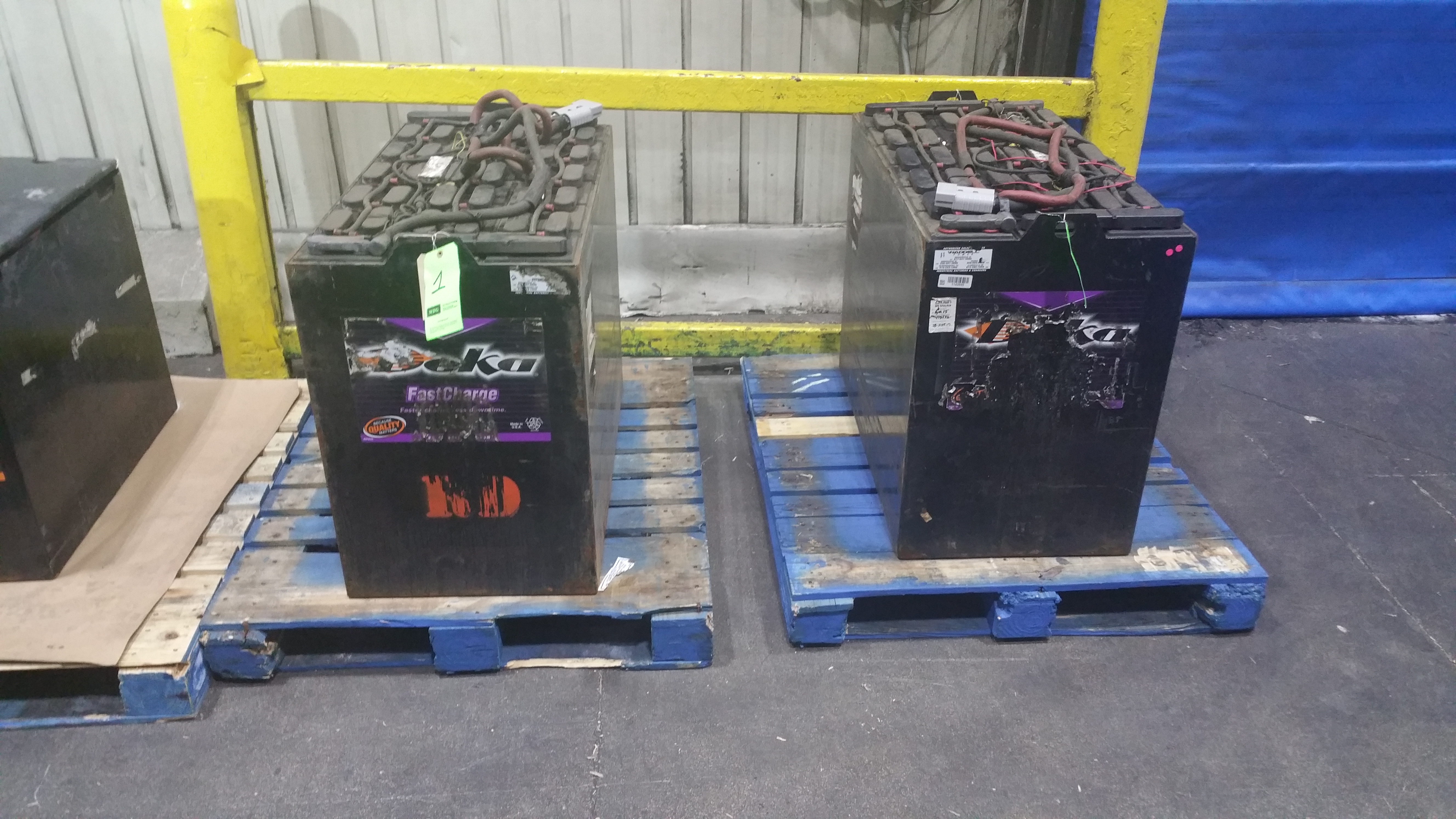 Lot 26 - (2) Deka Fast Charge 36V Batteries New in 2014 used less than 6 months tagged lot 1