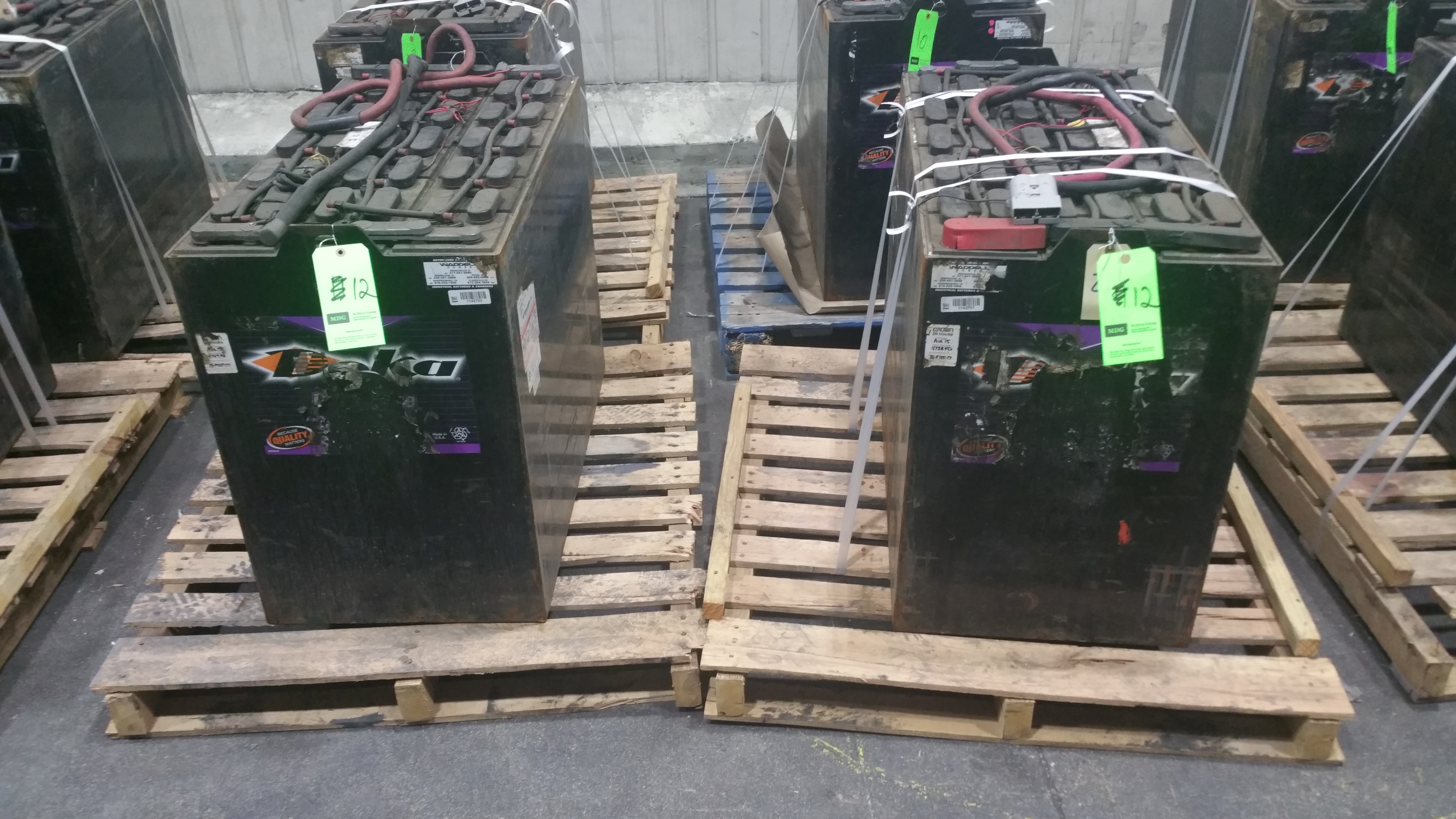Lot 37 - (2) Deka Fast Charge 36V Batteries New in 2014 used less than 6 months tagged lot 12