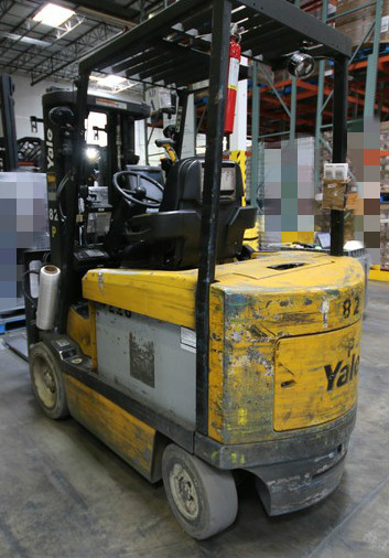 Lot 12 - YALE, 3 Stage Mast Forklift, Model ERC060, S/N E108V08486V, 4,750lbs Capacity, 187.8 inch Load