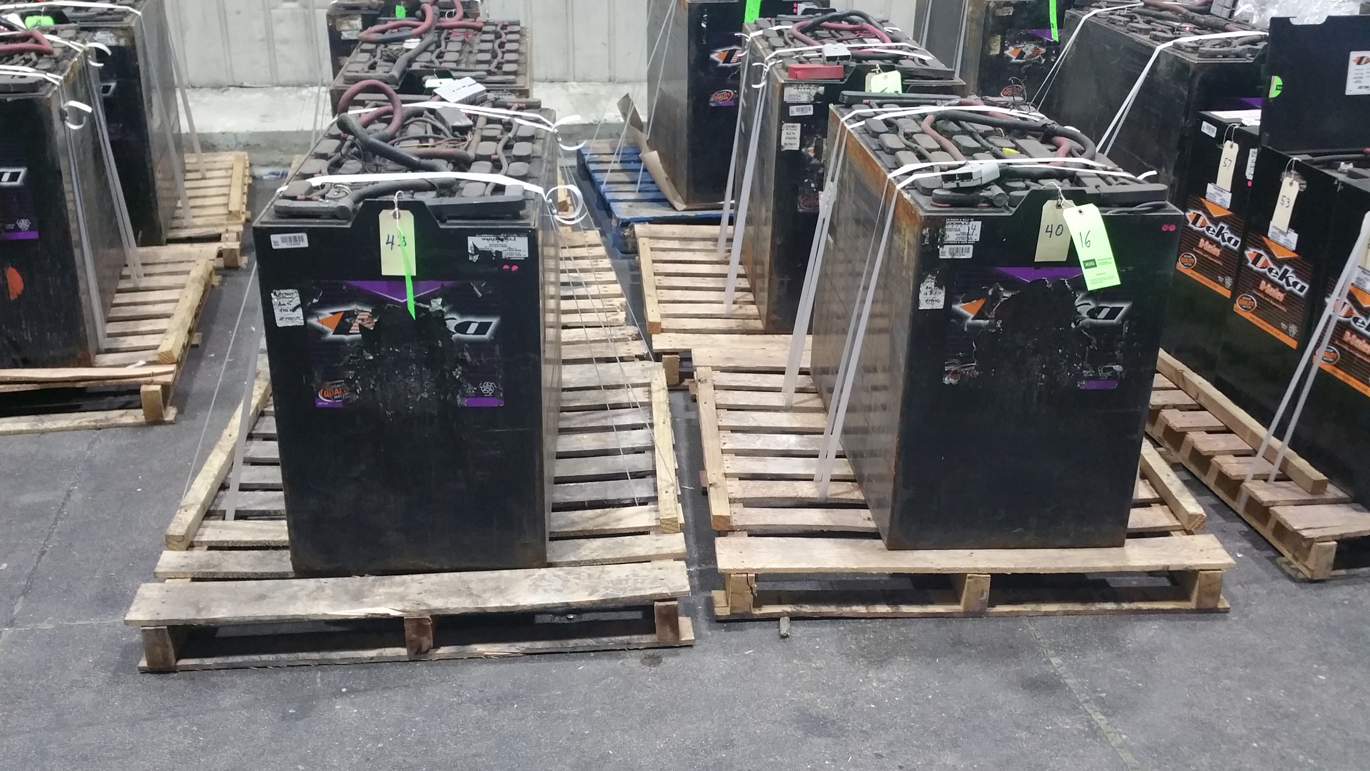 """Lot 41 - (2) Deka Fast Charge 36V Batteries, New in 2014 Used Less Than 6 Months, 20 1/16"""" x 38 ¼"""" x 30 7/1"""