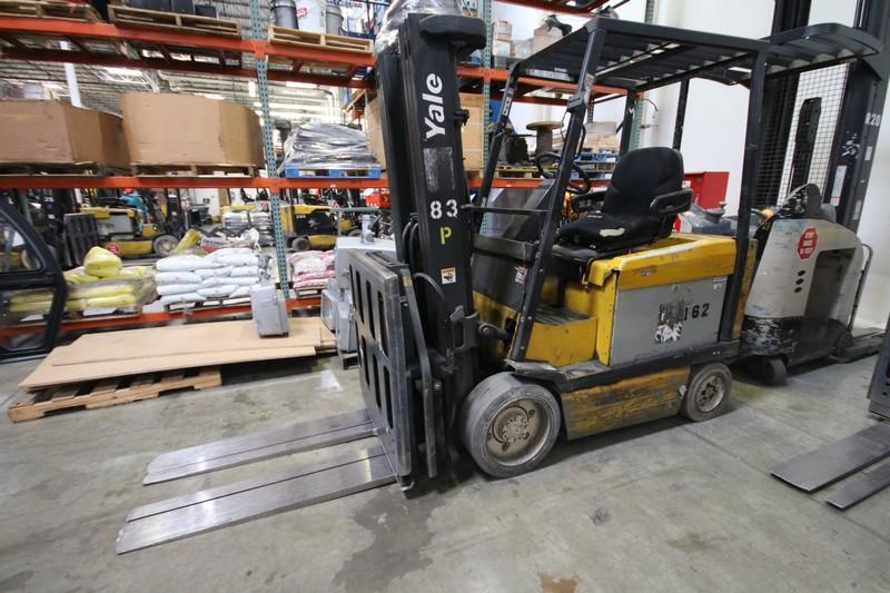 Lot 3 - YALE, 3 Stage Mast Forklift, Model ERC060, S/N E108V08491V, 4,600lbs Capacity, 187.8 inch Load