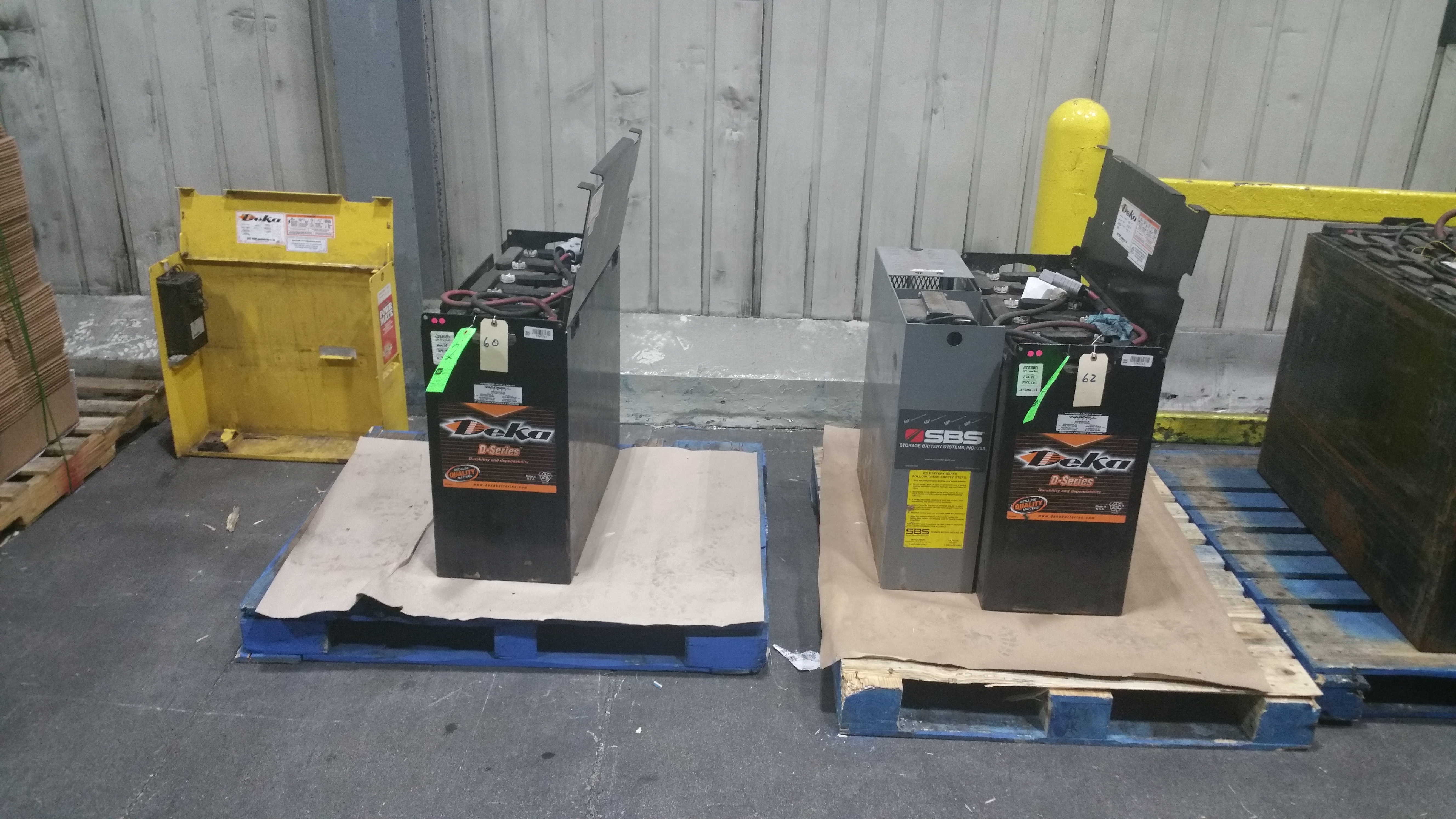 Lot 27 - (2) Deka Fast Charge 36V Batteries New in 2014 used less than 6 months tagged lot 2