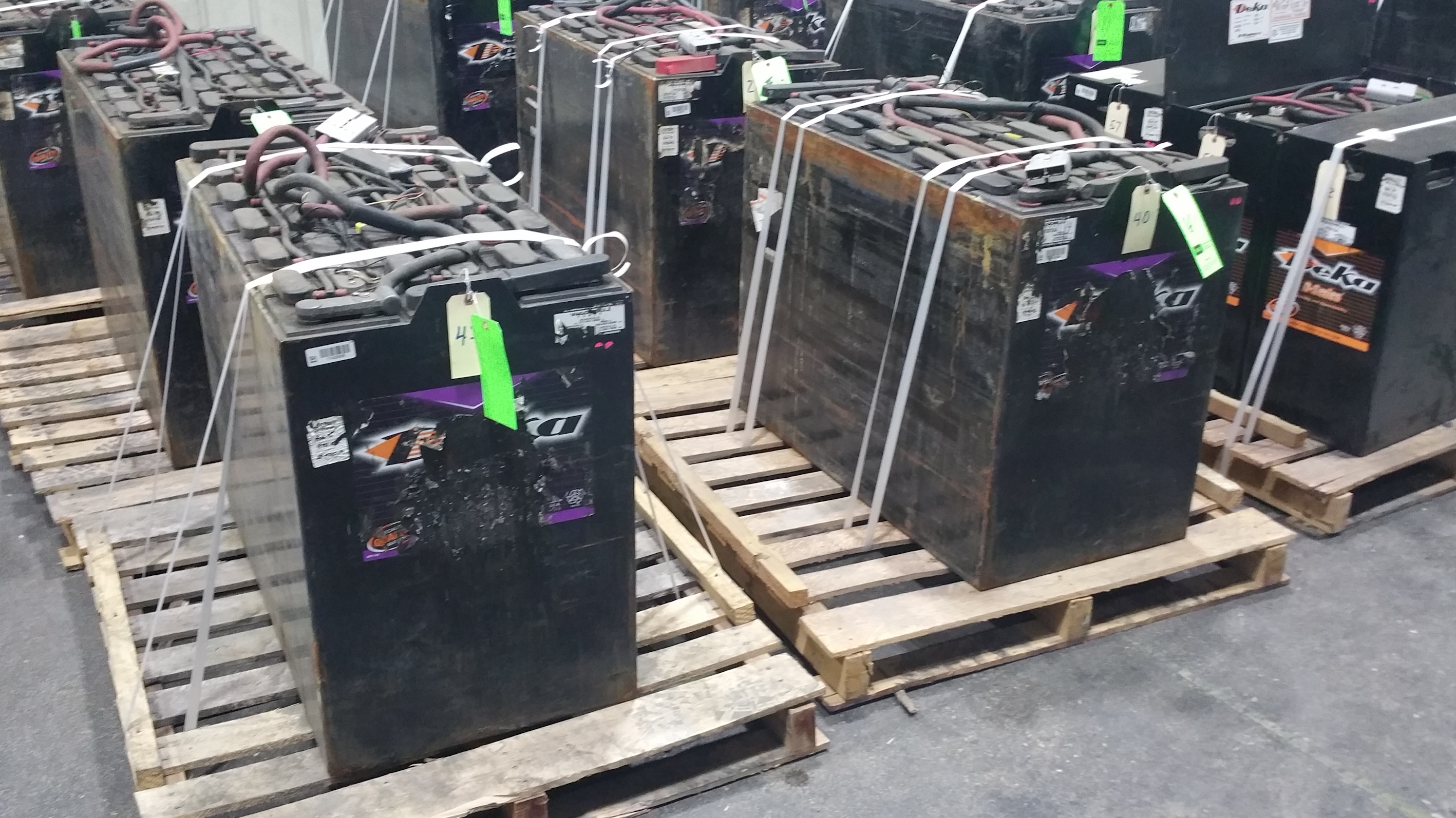 "Lot 39 - Deka Fast Charge 36V Batteries, New in 2014 Used Less Than 6 Months, 20 1/16"" x 38 ¼"" x 30 7/16"","