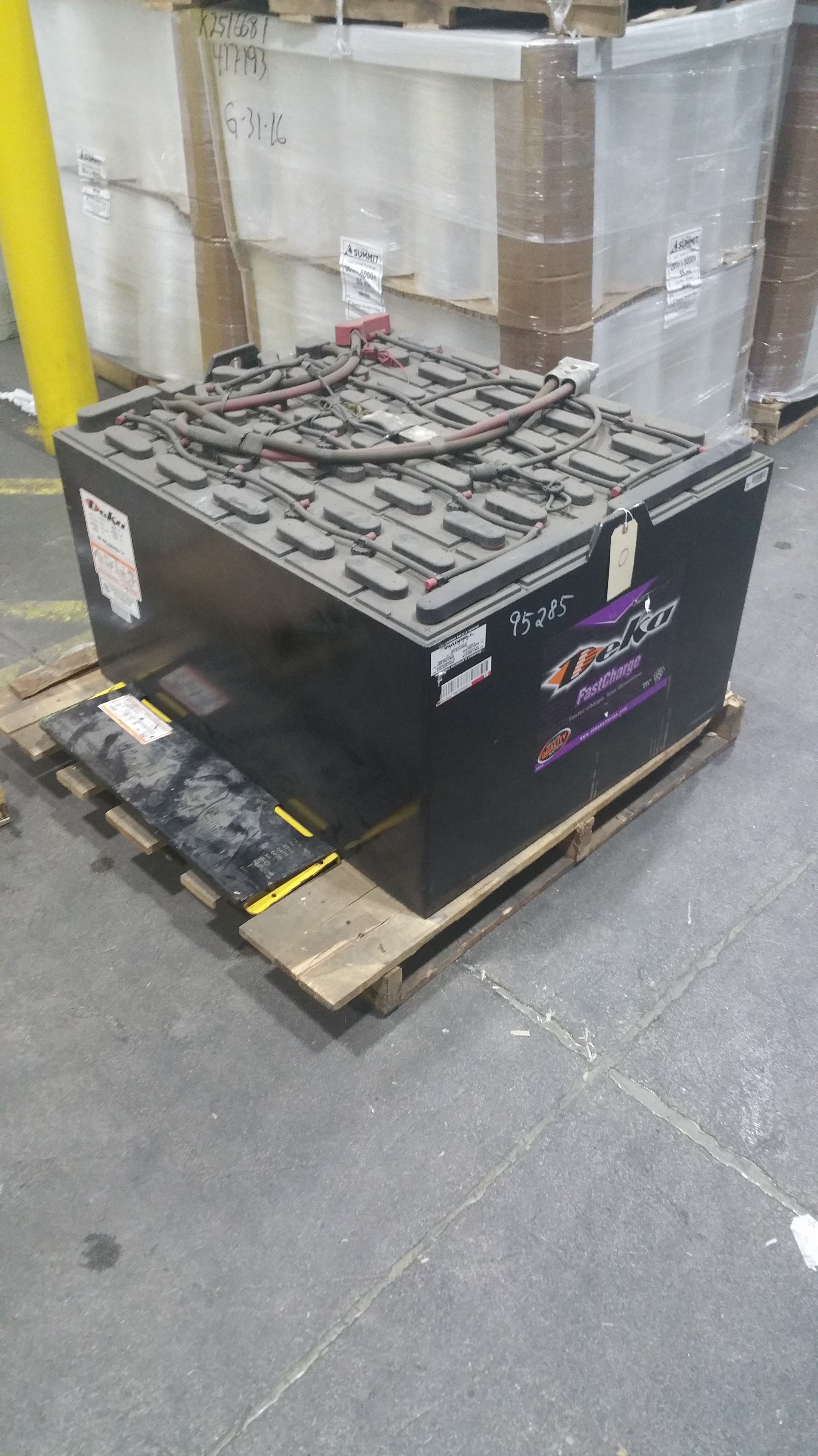 """Lot 34 - NEW Deka Fast Charge 48V Battery, Never Installed, 33"""" x 38"""" x 22"""",Tagged lot 9 (Located in Indi"""