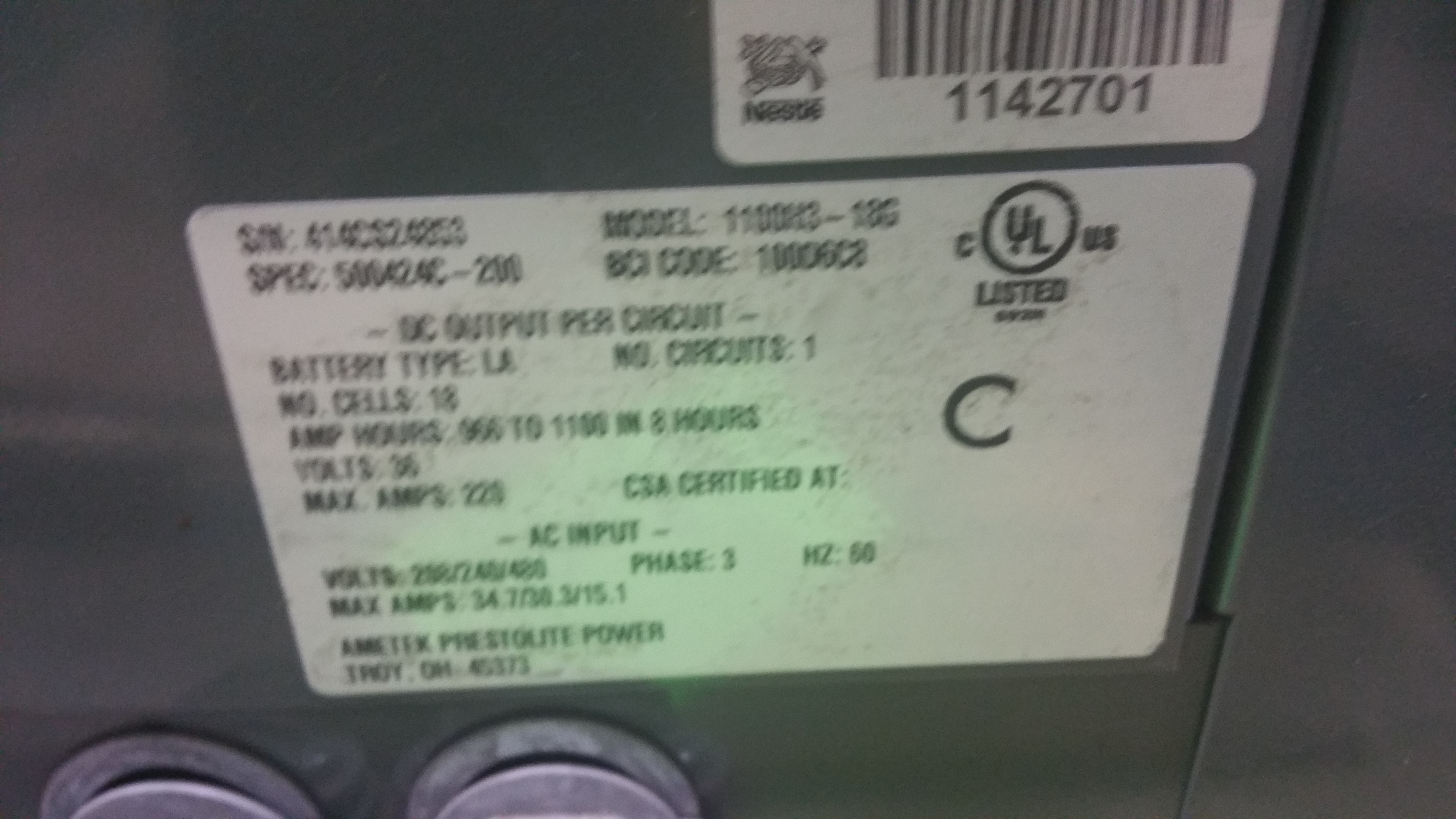 Lot 31 - NEW Battery Mate 100 Charger with AC 1000 Controls Tagged Lot 6 (Located in Indiana)
