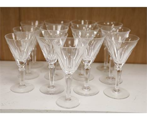 Waterford crystal drinking glasses (13)CONDITION: Three glasses marginally shorter (approx. 8mm) than the other ten; one of t