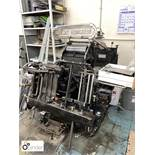 Heidelberg 10x15 Platen Press, serial number T128621E, with 2 chases (please note this lot is