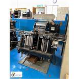 Heidelberg 10x15 Platen, 2 chases, serial number 121-979N (please note this lot is located in