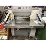 Polar Mohr 66E Guillotine, 66cm, year 1997, serial number 67H1123, with fitted tungsten blade and