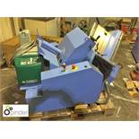 Muller Martini Mechanising Tipper/Card Applicator, machine number MMZO 1 494 328, with Robotech Glue