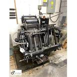 Heidelberg 10x15 Platen Press, serial number 114529E, with 2 chases (please note this lot is located