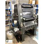 Heidelberg GTO 46 single colour Offset Press, 86153664 impressions, 32x46cm, serial number 669378,