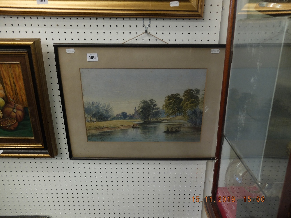 Lot 180 - A framed and glazed watercolour,